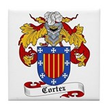 Cortez Coat of Arms Tile Coaster