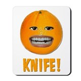 Orange Knife Mousepad