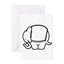 Cafe Elefant-1 Greeting Card