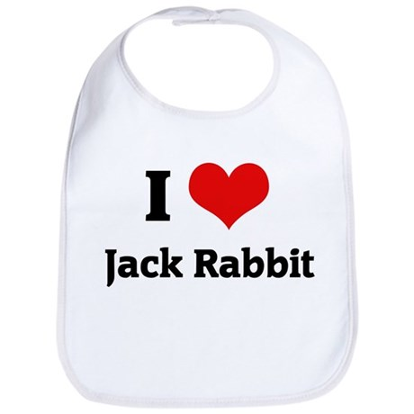 I Love Jack Rabbit Bib
