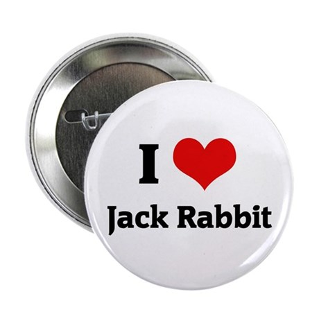 I Love Jack Rabbit Button