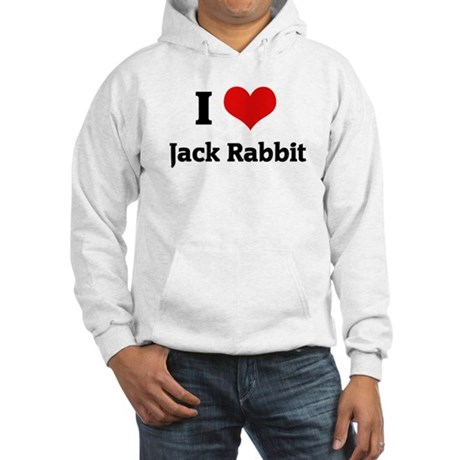 I Love Jack Rabbit Hooded Sweatshirt