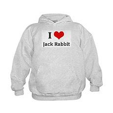 I Love Jack Rabbit Kids Hoodie