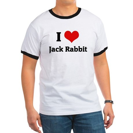 I Love Jack Rabbit Ringer T