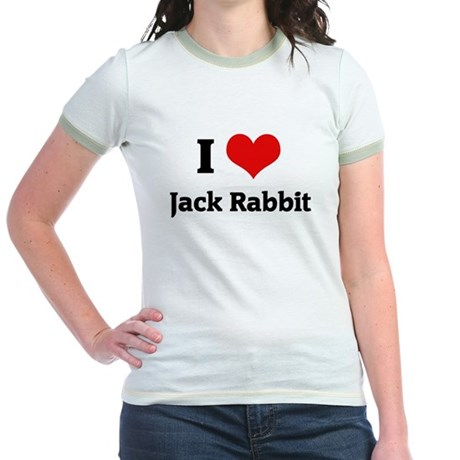 I Love Jack Rabbit Jr. Ringer T-Shirt