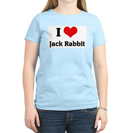 I Love Jack Rabbit Women's Pink T-Shirt