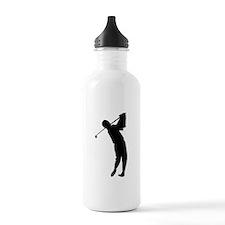 Golfing Silhouette Water Bottle