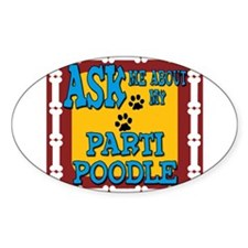Parti Poodle Decal