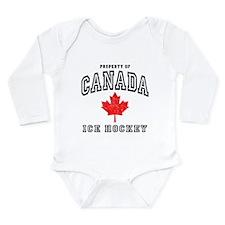 Canada Hockey Long Sleeve Infant Bodysuit