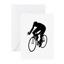 Cycling Silhouette Greeting Cards (Pk of 20)