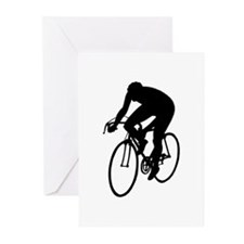 Cycling Silhouette Greeting Cards (Pk of 10)