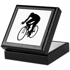 Cycling Silhouette Keepsake Box