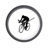 Cycling Silhouette Wall Clock