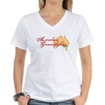 Aussie Groundfighter Women's V-Neck T-Shirt