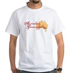 Aussie Groundfighter White T-Shirt