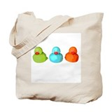 Three Rubber Ducks Tote Bag