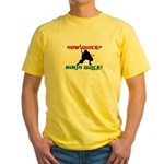 Ninja quick Yellow T-Shirt