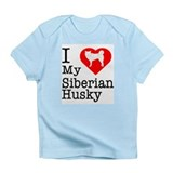 I Love My Siberian Husky Infant T-Shirt