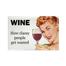 Wine Lovers Rectangle Magnet