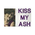 Kiss My Ash Rectangle Magnet