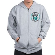 Ovarian Cancer I'm A Survivor Zip Hoodie