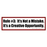 Quilting Rule #3 Bumper Sticker
