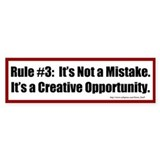 Quilting Rule #3 Car Sticker