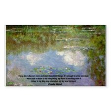 Monet Painting: Beauty Quote Rectangle Decal