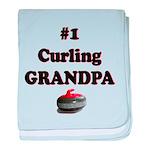 #1 Curling Grandpa baby blanket