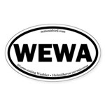 Worm-eating Warbler Oval Sticker