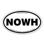 Northern Wheatear Oval Sticker