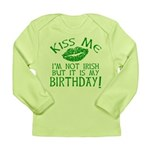 Kiss Me March 17 Birthday Long Sleeve Infant T-Shi
