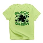 Black Shamrocks Black Irish Infant T-Shirt