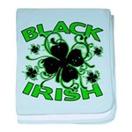 Black Shamrocks Black Irish baby blanket