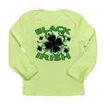 Black Shamrocks Black Irish Long Sleeve Infant T-S