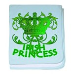 Crown and Scroll Irish Princess baby blanket