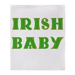 IRISH BABY (Celtic font) Throw Blanket
