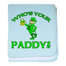 Leprechaun Who's Your Paddy baby blanket