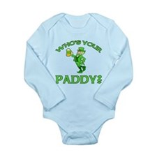 Leprechaun Who's Your Paddy Long Sleeve Infant Bod