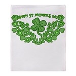 HAPPY ST PATS DAY GRAPHIC Throw Blanket