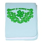 HAPPY ST PATS DAY GRAPHIC baby blanket