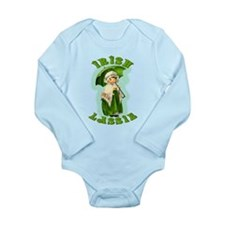Irish Lassie In Green Long Sleeve Infant Bodysuit