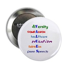 Liberal Moral Values Button