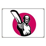 cricket batsman pointing Banner