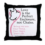 Enclose me with Love Throw Pillow