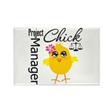 Project Manager Chick Rectangle Magnet