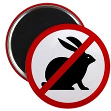 "Anti Bunnies 2.25"" Magnet (100 pack)"