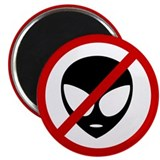 "Anti Aliens 2.25"" Magnet (10 pack)"