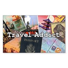 Travel Addict Decal