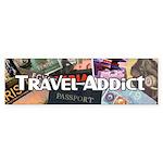 Travel Addict 'Style 2' Bumper Sticker
